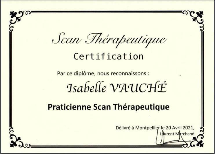 scan thérapeutique, certificat